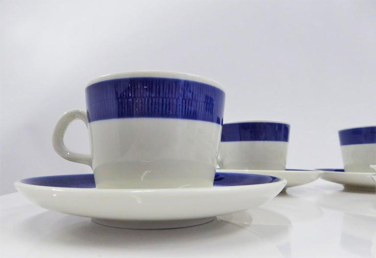 Rörstrand Coffee / Tea Set Koka Blå Pattern Designed by Hertha Bengtson, 1950s For Sale 2