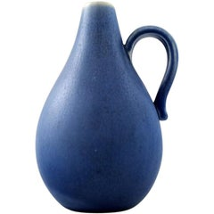 Rörstrand Pitcher in Ceramics, Beautiful Glaze in Shades of Blue