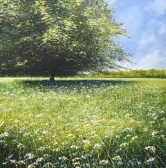 Big Tree original landscape painting- Contemporary Art- 21st Century