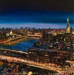 Blackfriars and the Shard - original cityscape painting contemporary modern art