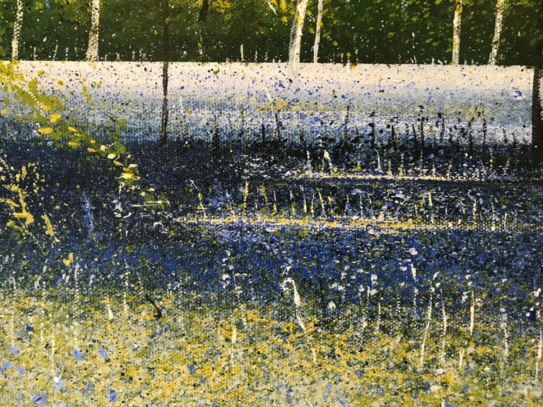 Bluebell Woods original landscape painting- Contemporary Art- 21st Century - Impressionist Painting by Rory J. Browne