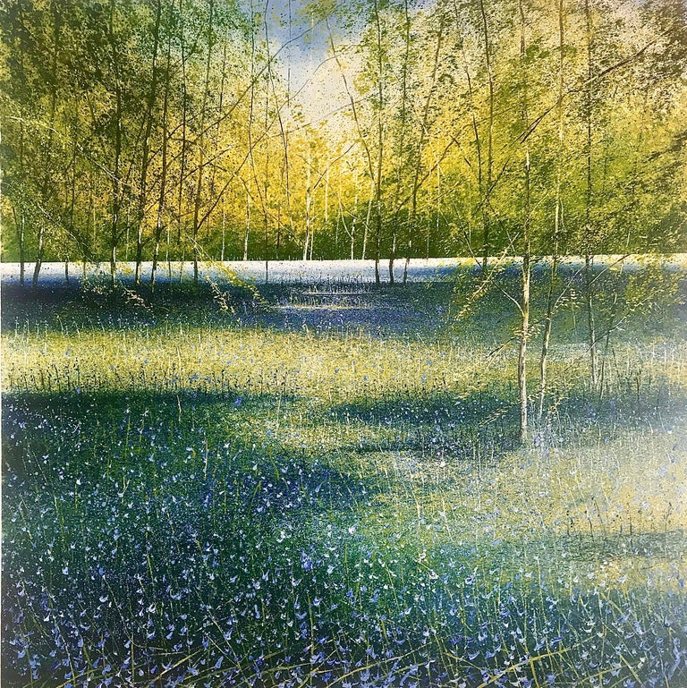 Rory J. Browne Landscape Painting - Bluebell Woods original landscape painting- Contemporary Art- 21st Century