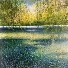Bluebell Woods - original landscape painting Contemporary Art 21st Century