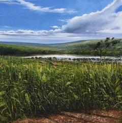 Burundi Blue Skies original landscape painting
