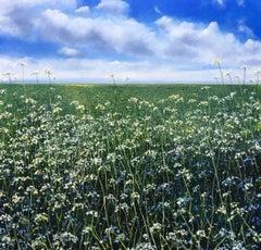 Cow Parsley & blue Sky original landscape painting
