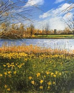 Do Not Worry - original landscape nature painting contemporary modern art