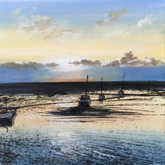 Evening Light and Boats original  landscape painting