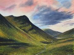 Glen Coe - original landscape mountain painting Contemporary Art- 21st Century