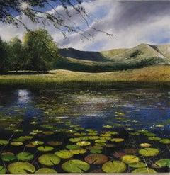 Kelly Tarn - original landscape lake painting Contemporary Impressionism