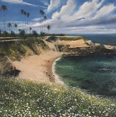 La Jolla Cove - cityscape landscape painting Contemporary Impressionism Art 21st