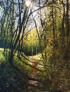 Lane original  landscape painting
