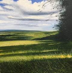 Layers of Cloud & Shadows - original landscape countryside artwork contemporary