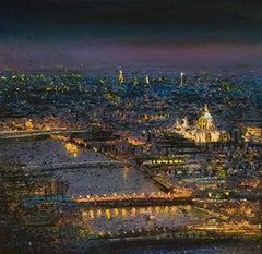 Light of the World - London original sky Cityscape landscape painting