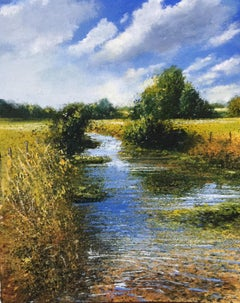 Memories - original landscape painting contemporary modern art 21st C