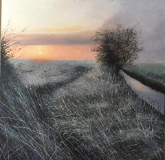 On The Way Home - landscape painting Contemporary Impressionism Art 21st nature