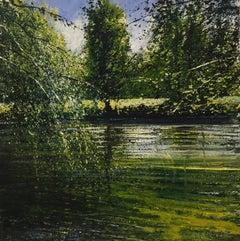 Quiet Waters - original landscape painting contemporary modern art