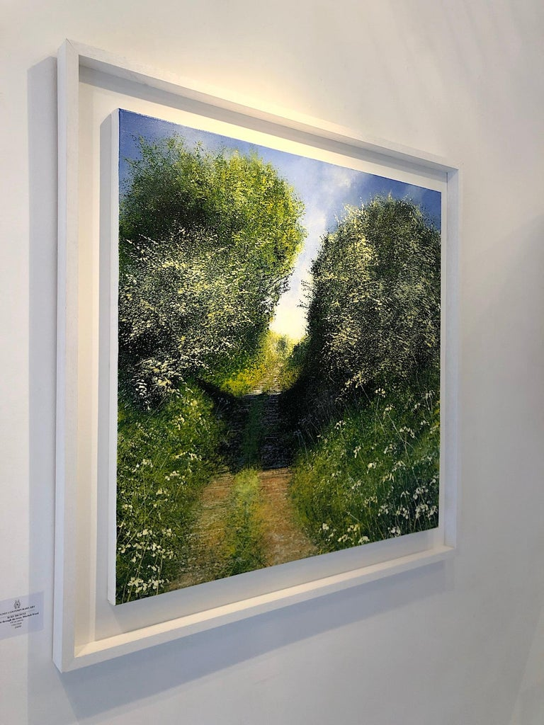 Sunny Path original landscape painting- Contemporary Art- 21st Century - Painting by Rory J. Browne
