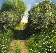 Sunny Path - original landscape painting Contemporary Art 21st Century