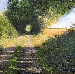 Sunny Path original landscape painting Contemporary Impressionism Art  21st