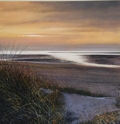 The Beach - original landscape painting- Contemporary Art- 21st Century