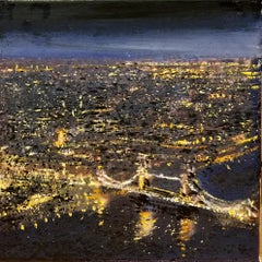 Tower Bridge From The Shard-Central London original cityscape landscape painting
