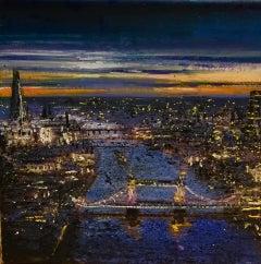 Tower Bridge & The Shard - Central London original cityscape landscape painting
