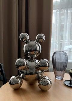 Big Bear (Big Foot), stainless steel sculpture