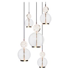 Rosa 5 Piece by Marc Wood 'Marble, Glass & Brass with Integrated LED'