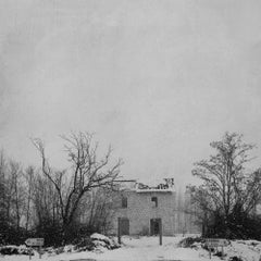 Blanco - White landscape, Winter scene, Natural imagery, Black and white photo