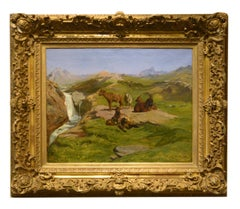 Painting by Rosa Bonheur, Wild Goats in the Mountains