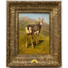 "Rosa Marie (Rosalie) Bonheur ""Mountain Kid"" Original Oil Painting c.1880"