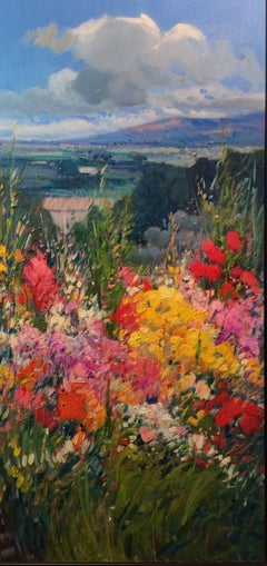 Contemporary Bold Landscape painting 'Summer View' by Rosa Canto