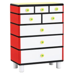 ROSA Chest of Drawers by George J. Sowden by Post Design Collection/Memphis