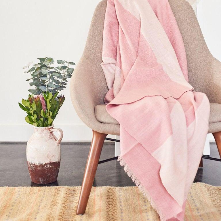 Modern ROSA Plush Throw / Blanket / Bedspread  For Sale
