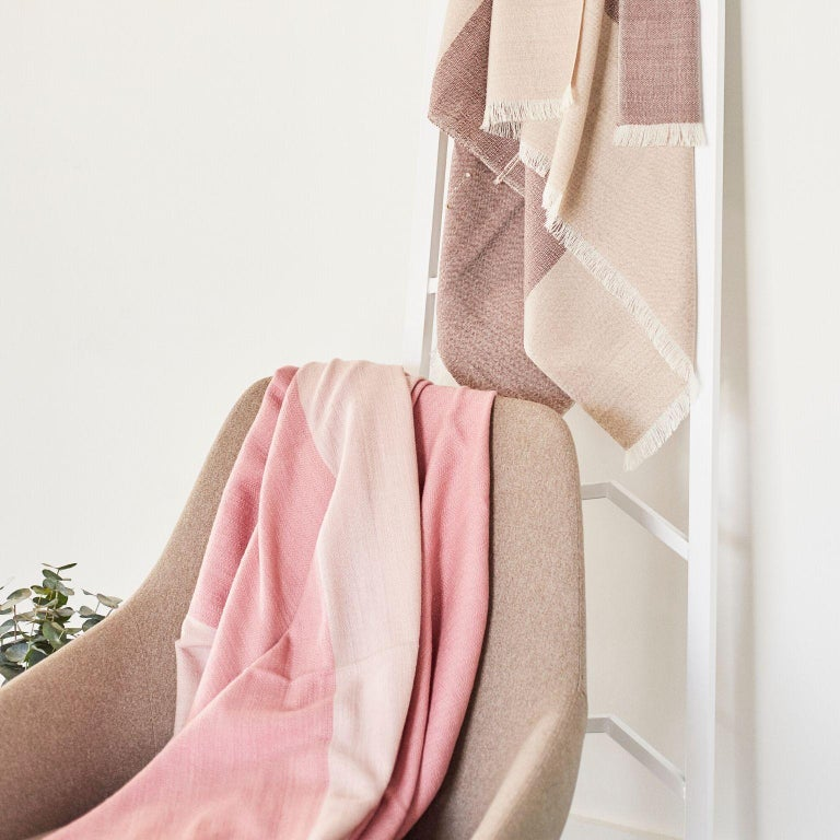 Hand-Woven ROSA Plush Throw / Blanket / Bedspread  For Sale