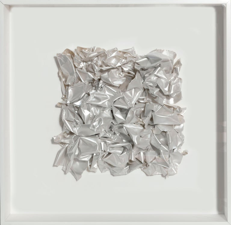 Artist: Rosana Castrillo Diaz Title: Untitled Date: 2011 Medium: Mica Paint on paper Dimensions: 25 x 25 x 3.25 inches Frame Dimensions: 26.75 x 26.75 inches