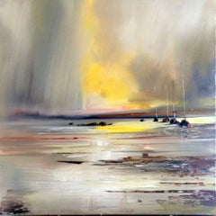 Sails at sea original landscape painting Contemporary Art 21st Century