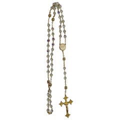 Rosary from the Vatican Library Clear Glass Czech Beads