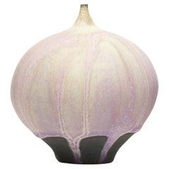 Rose and Erni Cabat Glazed Porcelain Feelie Vase Pink, Cream, Lavender Ceramic