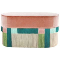 Rose and Green Couture Geometric Wien Bench