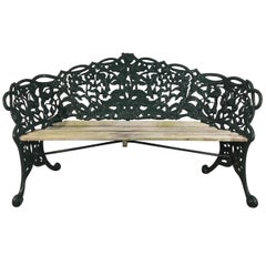Rose and Thistle Cast Iron Bench by T. Perry and Sons, Glasgow, 1858