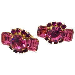 Rose Austrian Crystal Cuff Links