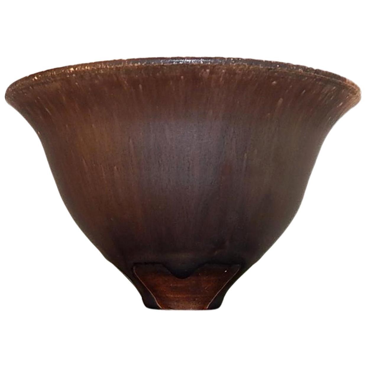 Rose Cabat Studio Ceramic Brown Flared Bowl