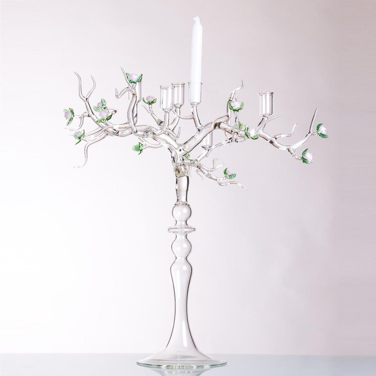 Rose Candelabra by Simone Crestani In New Condition For Sale In Milan, IT