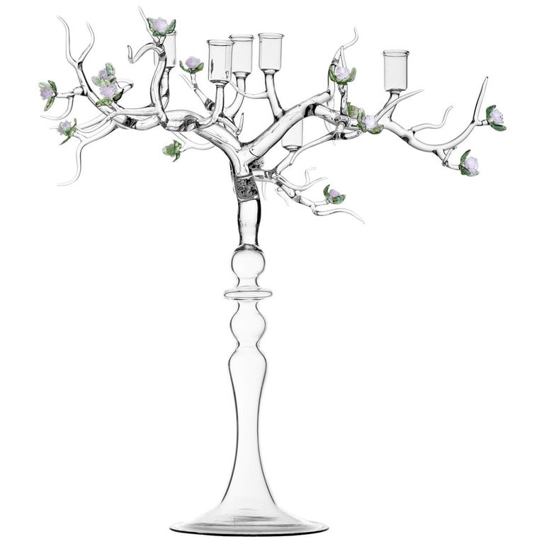 Rose Candelabra by Simone Crestani For Sale