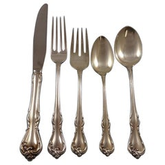 Rose Cascade by Reed & Barton Sterling Silver Flatware Service 8 Set 47 Pieces