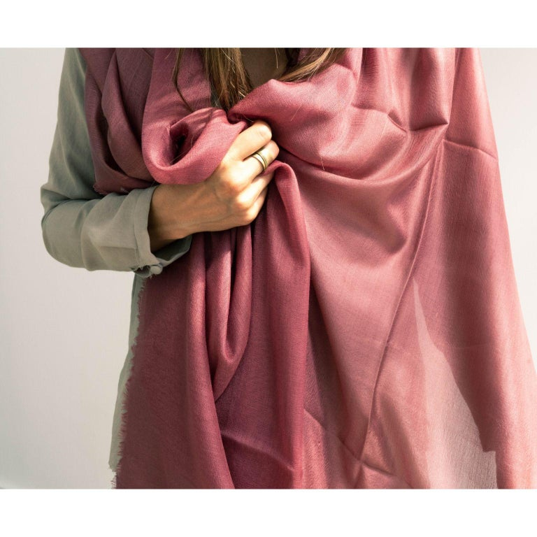 Custom design by Studio Variously, Rose scarf / wrap / shawl is a finely handwoven piece by master artisans in Nepal.  A sustainable design brand based out of Michigan, Studio Variously exclusively collaborates with artisan communities to restore