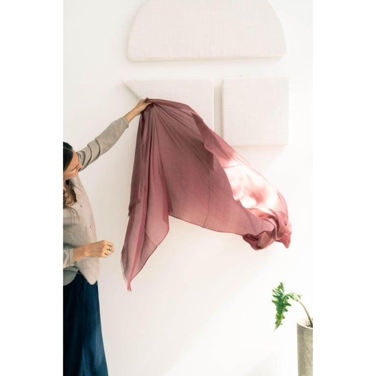 Modern Rose Cashmere Silk Scarf/Wrap/Shawl For Sale