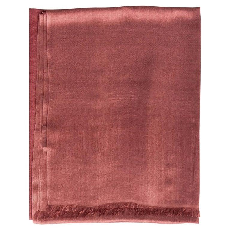 Rose Cashmere Silk Scarf/Wrap/Shawl For Sale