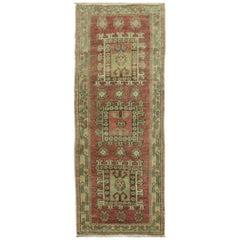 Rose Color Turkish Wool Anatolian Small Throw Rug
